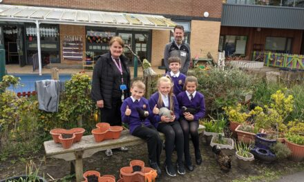 Budding gardeners at Ashington primary school receive generous donation from local Garden Centre