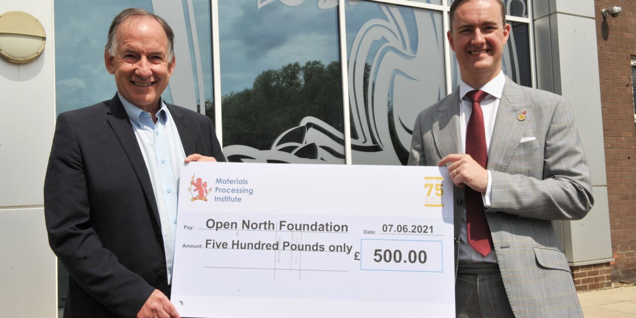 Materials Processing Institute makes charitable donation to support North East's pandemic recovery