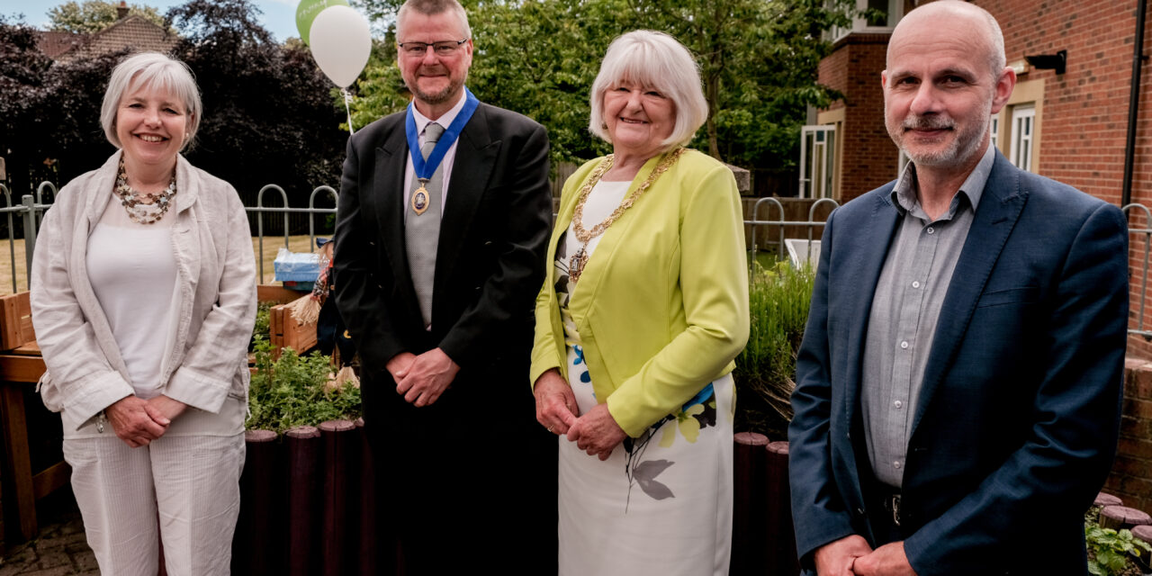 Mental Health Charity Bosses Get Green Fingers to Breathe New Life into Sensory Dementia Garden