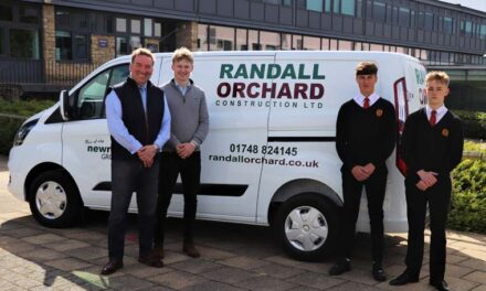 Students building a future with leading construction company