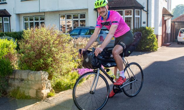 Cyclist begins 4,500km charity ride around the UK