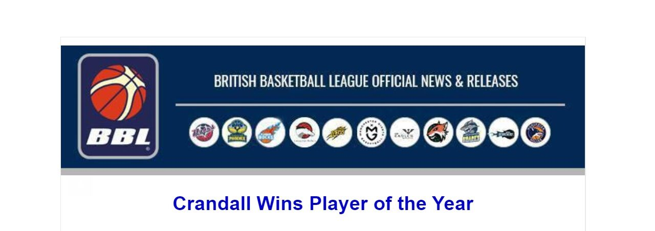 Crandall Wins Player of the Year