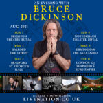 AN EVENING WITH BRUCE DICKINSON – FEATURING Q&A SIX 2021 UK SHOWS ANNOUNCED ON SPOKEN WORD TOUR