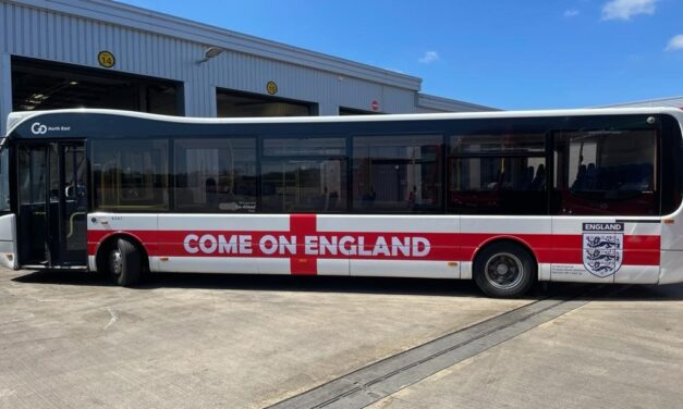 Go North East backs England football team with branded buses and activities