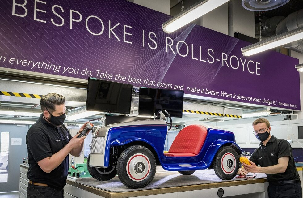 Unique Rolls-Royce motor car receives special treatment at home of Rolls-Royce