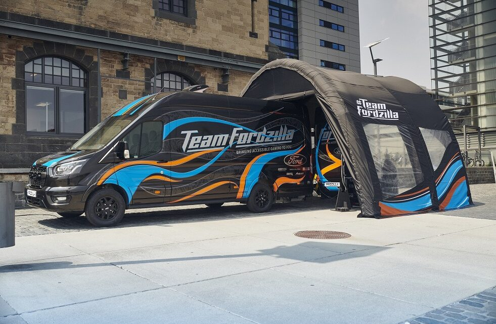 Team Fordzilla 'Gaming Transit' European Road Trip Brings Support to Charities with Accessible Fun for Young Gamers