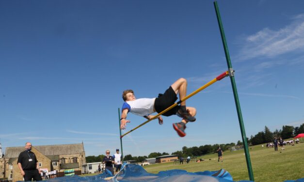 Students celebrate a return to track and field