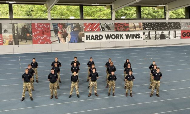 NEWCASTLE MILITARY STUDENTS MARCH TO GATESHEAD