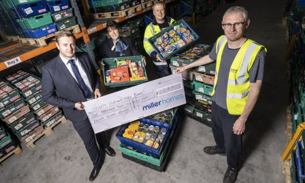 MILLER HOMES DONATES OVER £1000 TO NORTH EAST FOOD BANK