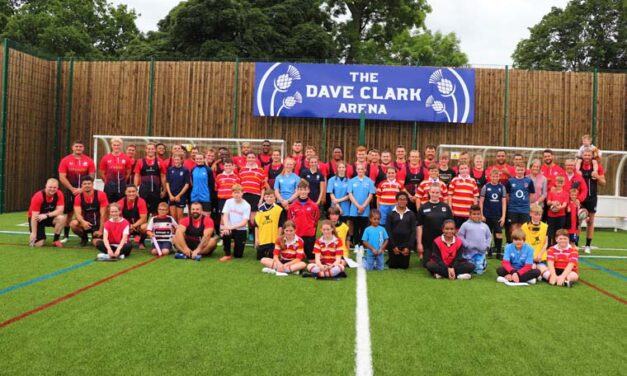 Saracens coach Richmond students in memory of Dave Clark