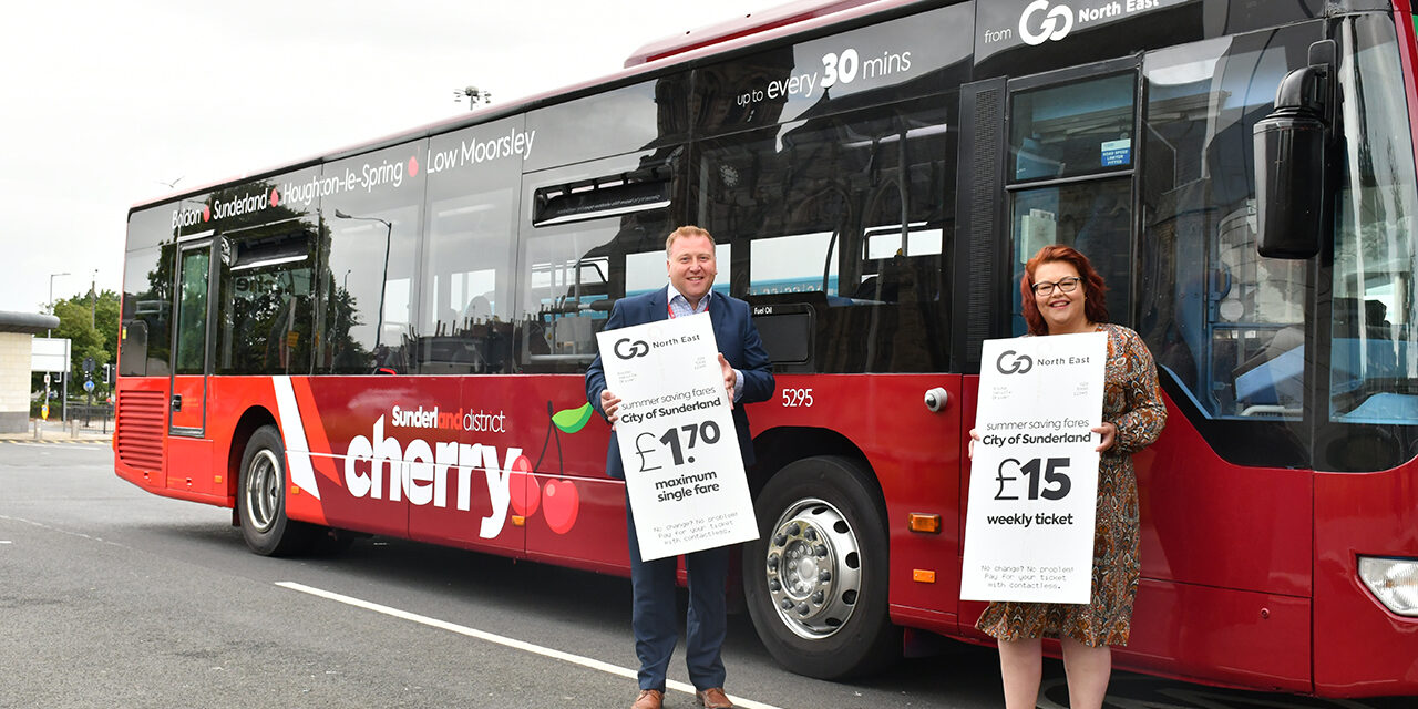 Better fares and revitalised buses launched across the City of Sunderland to aid the region's recovery