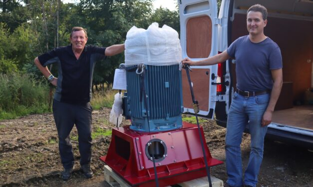 Turbine arrives for spa resort's green energy project