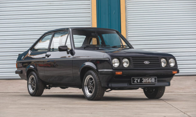 A recommissioned 1979 Ford Escort RS2000 MK2 offered from Richard Hammond and The Smallest Cog team