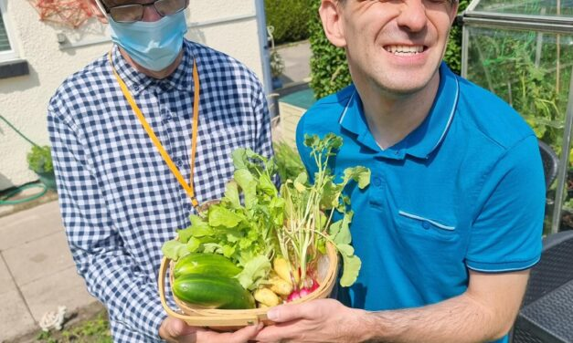 Durham care home goes green fingered with end of summer veggie harvest