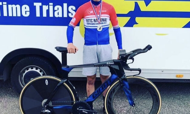 Matty triumphs in two national youth cycling races