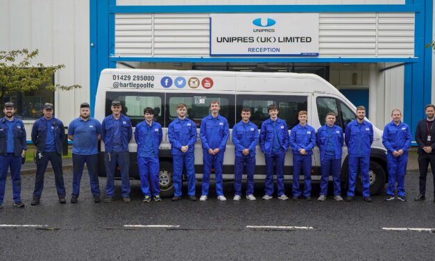 Unipres apprentices head from Wearside to Hartlepool