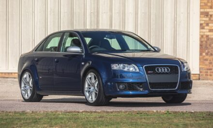 An incredible opportunity to acquire a 2007 Audi RS4 (B7) Saloon with just 217 miles at Silverstone Auctions final sale of the year