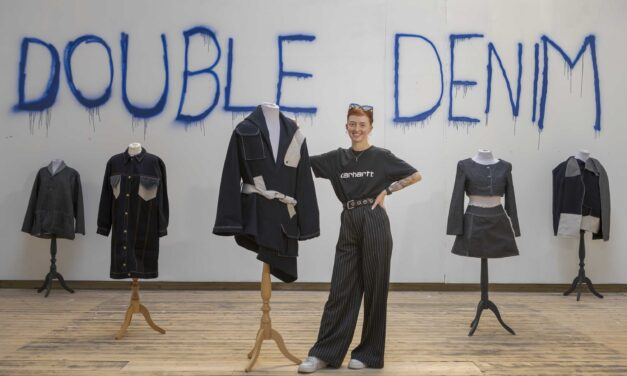 Eve proves her talent is in the jeans with sustainable 'Double Denim' exhibition