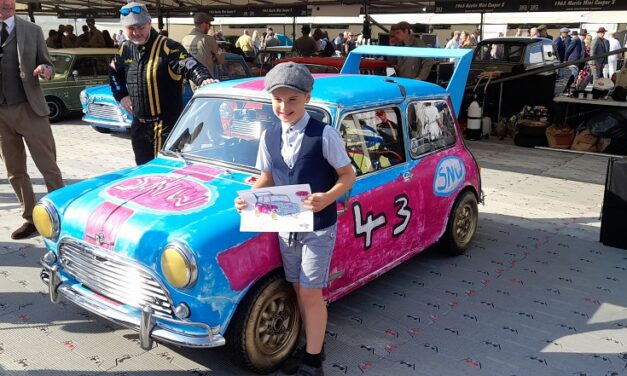That's a wrap! Mini designed by 9-year-old Stanley Wilkinson triumphs in all-Mini race at the Goodwood Revival