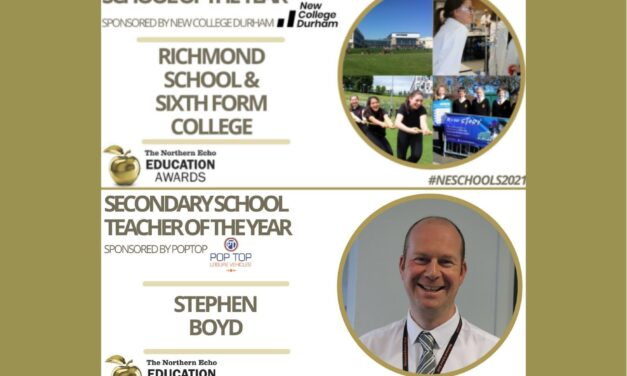 Richmond School is crowned School of the Year in Northern Echo Education Awards
